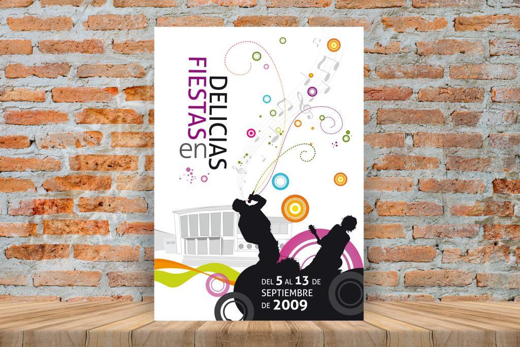 Cartel · Fiestas en Delicias